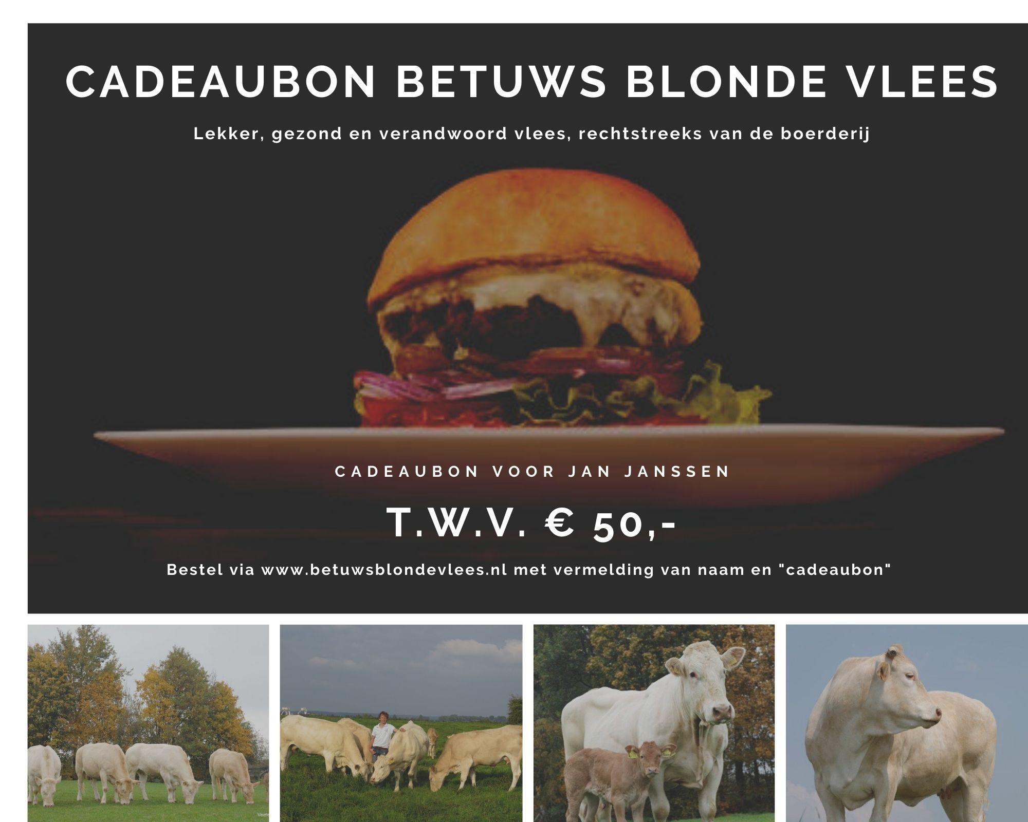 vleespakket cadeabon Betuws Blonde Vlees