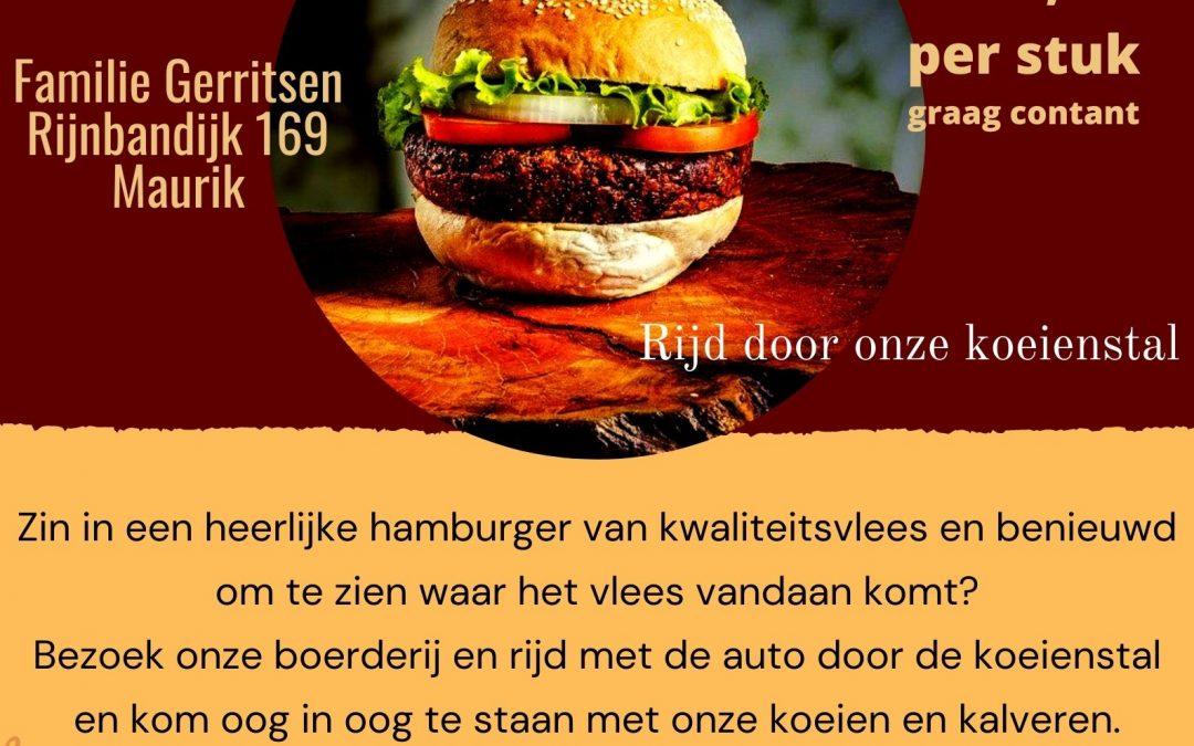 Hamburger drive in door onze stal